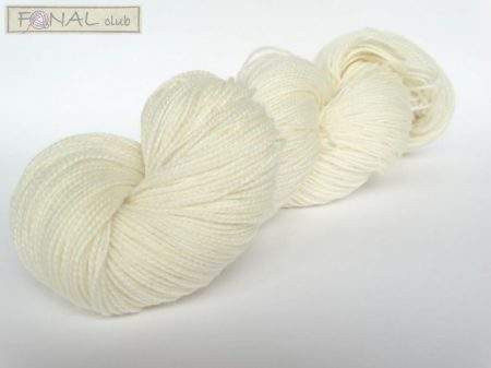 80% Superwash Merino 20% Nylon HT White Hanks