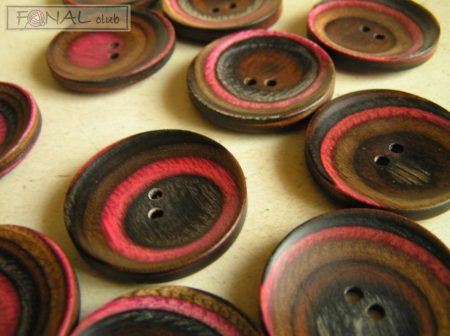Knitpro recessed wood button (34mm)