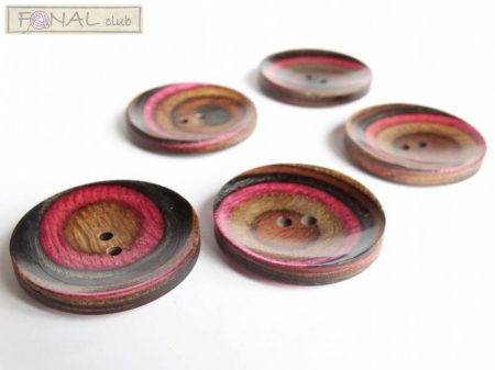 Knitpro recessed wood button (44mm)